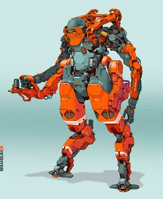 Brian Sum - 2DesignBlog Cyberpunk Character, Cyberpunk Art, Robot Concept Art, Armor Concept, Character Concept, Character Art, Range Murata, Arte Robot, Mecha Anime