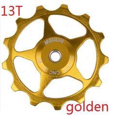 Bicycle rear derailleur pulley11 t/13t aluminum alloy bike rear Wheel Jockey Wheel Compatible 7 / 8 / 9 /10 Speed