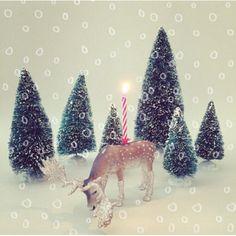 Reindeer Candle Holder For Glitter Sparkle Christmas Cakes   Lola Beau