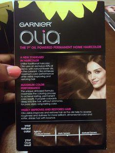 Garnier Olia hair color medium golden brown. Oil based hair dye, best ...