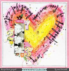 "LO ""Aphabet of love"" created with April 2017 Hip Kits from @hipkitclub I used fantastic Art Crayons from @americancrafts @vickiboutin line. I love how intense the colors are. #hipkitclub #hipkits #april2017hipkits #annakomenda #moriony #skrapowisko #americancrafts #vickyboutin @pinkfreshstudio #mixedmedia #scrapbooking #scrapbook #layout #lo #selfie #motheranddaughter"