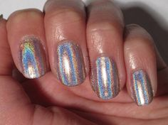 color club holographic nail polish Color Club Halo Hues, Holographic Nail Polish, Aesthetic Makeup, Nail Designs, Fancy, My Style, Beauty, Nail Desings, Beauty Illustration