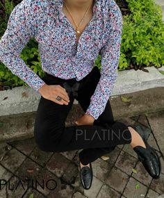 Camisa Flores Hombre diseño exclusivo de Tiendas Platino! #TiendasPlatino
