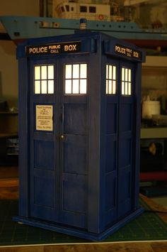 TARDIS from Dr Who -scale model
