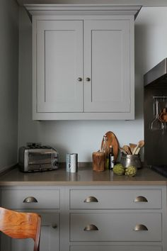 Griege cabinetry butler's pantry simple cupboard