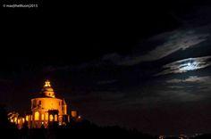 The Moon on San Luca  La Luna su San Luca  Bologna - Italy  #sanluca   #moon   #sanluca   #sky   #bologna   #italy   #night