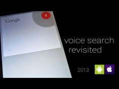 ▶ Google Voice Search Revisited [2013] - YouTube