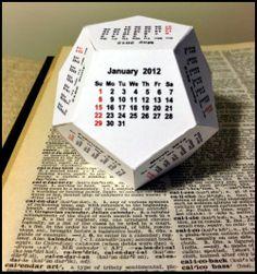 Pliage calendrier en papier