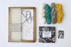 Weaving Loom Kit for Hand Weaving  Oak Finish Loom by FiberHuis