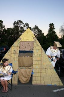 Ch. 4-- Create one of these and put it over the door of the living room? Or make a pyramid out of large cardboard boxes