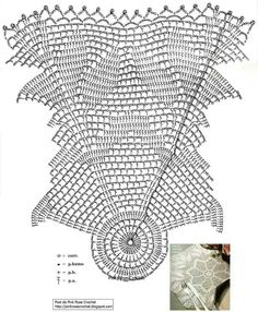 Crochet pattern Crochet Doily Diagram, Crochet Chart, Thread Crochet, Filet Crochet, Crochet Doilies, Crochet Stitches, Knit Crochet, Doily Patterns, Beading Patterns