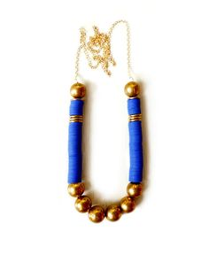 Electric blue brass by KimDulaney on Etsy, $48.00