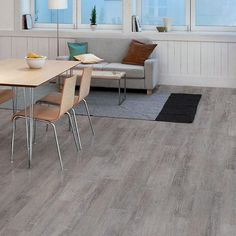 TrafficMASTER Allure Canadian Hewn Oak Resilient Vinyl Plank Flooring - 4 in. x 4 in. Take Home Sample - 10081314 - The Home Depot Decor, Basement Flooring, Interior, Home, Home Depot Flooring, Hardwood Floors, Luxury Vinyl Plank Flooring, Hardwood, Vinyl Flooring
