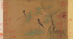 Emperor Huizong | Finches and bamboo | China | Northern Song dynasty (960–1127) | The Met