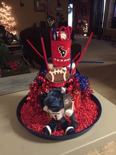 For dad at the baby shower. Budweiser was his flavor of choice. This was easier to make than the diaper stadium. -Yvonne G Texas Texans, Birthday Candles, Birthday Cake, Diaper Cakes, Creative Gifts, Baby Ideas, Shower Ideas, Dads, Beer