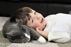 Un bimbo autistico è tornato a vivere grazie all'affetto di un micio