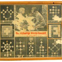 1920s Swiss Bauhaus Era Wooden Building Toy