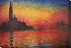 Dusk in Venice Stretched Canvas Print at AllPosters.com