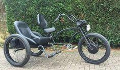 Mo to ba banh Tricycle Bike, Trike Bicycle, Cargo Bike, Cruiser Bicycle, Custom Trikes, Custom Motorcycles, Cool Bicycles, Cool Bikes, Bike With Sidecar