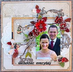 Love eachother everyday **Petaloo** - Scrapbook.com Graphic 45 - Place in Time Collection