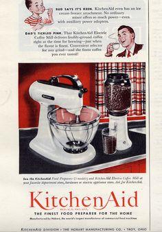 Vintage KitchenAid Ad... Kitchen & Bath Cottage in Shreveport, LA is an authorized Whirlpool & Kitchen-Aid Showroom.  www.kbcottage.com
