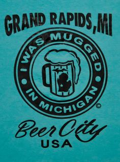 Awesome Beer City  T-Shirt for Grand Rapids Michigan Original Design on Etsy, $19.99
