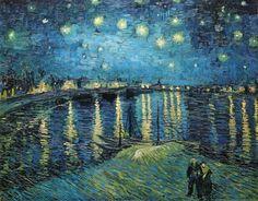 Vincent van Gogh ローヌ川の星月夜