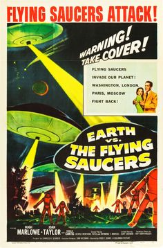 """Earth vs. the Flying Saucers (Columbia, 1956). One Sheet (27"""" X 41"""")."""