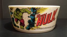 Vintage 1977 The Incredible Hulk Collectible Plastic Deka Bowl Marvel Comics | eBay