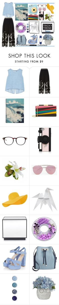 """Culottes"" by tobash21 ❤ liked on Polyvore featuring Steve J & Yoni P, Temperley London, Polaroid, Salvatore Ferragamo, Kate Spade, Boohoo, Accessorize, Hermès, Mitchell Gold + Bob Williams and INC International Concepts"