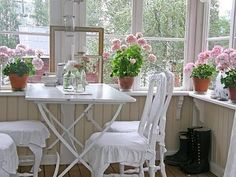 All Things Shabby and Beautiful - pretty little porch