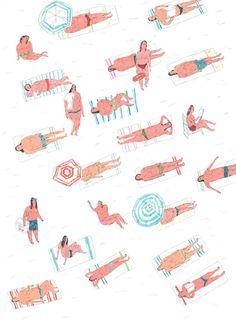 Drawings by Mariana Santos aka 'Mariana, a miserável'