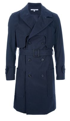 Carven navy blue trench at $837