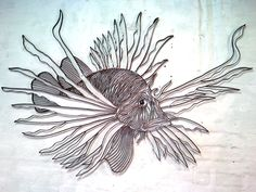 """Swimming Lionfish"" by Wayne Jeffery. Paintings for Sale. Bluethumb - Online Art Gallery"