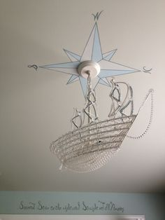 Captain Hook's ship chandelier.