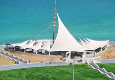 Latest on Selector Architectural tensile fabrics – Verseidag: Verseidag is a globally recognized market leader in the manufacture of… Architectural Engineering, Fabric Structure, United Arab Emirates, Beautiful Architecture, Abu Dhabi, North America, Construction, Landscape, Building