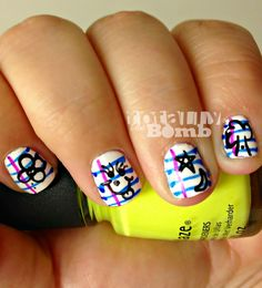 {Totally Retro} Back To School Nail Art