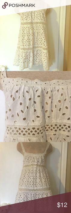 American Eagle eyelet beach cover lightweight cotton all over eyelet dress/beach cover American Eagle Outfitters Swim Coverups