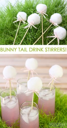 DIY Bunny Drink Stirrers for Easter!                                                                                                                                                                                 Más