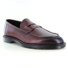 7d5809f8d44 Dr Martens Penton Mens Slip-On Loafer Shoes - Cherry Red