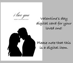 Valentine's day digital greeting card by Fdigitalstudio on Etsy Perfection Quotes, Love You, My Love, Printable Quotes, Sticker Shop, Handmade Items, Handmade Gifts, Beautiful Artwork, Happy Valentines Day