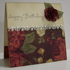 Vintage Birthday by Loll Thompson - Cards and Paper Crafts at Splitcoaststampers