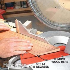 These DIY tips will help you get tight-fitting joints on doors, windows and base moldings, even if your walls are less than perfect. Door molding done right Base Moulding, Moldings And Trim, Door Molding, Crown Moldings, Woodworking Techniques, Woodworking Projects, Woodworking Videos, Woodworking Classes, Teds Woodworking
