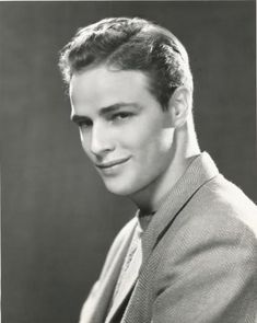 Publicity photo of impossibly young Marlon Brando, Broadway production of I Remember Mama, 1944.
