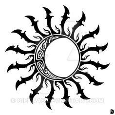 Tribal Sun and Moon by GifHaas on DeviantArt
