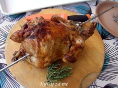 Chicken on a spit