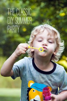 The Classic DIY Summer Party - projects  recipes