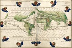 Magellans Circumnavigation of the Earth, from the Portolan Atlas by Battista Agnese, c. 1544