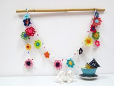 My version of the Mollie Makes crochet garland - February 17th