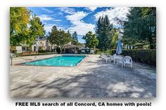 FREE MLS search of all Concord, CA homes with pools!